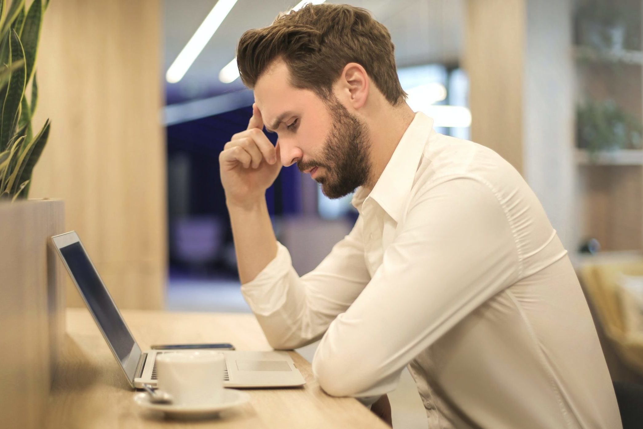 man worried about seo mistakes